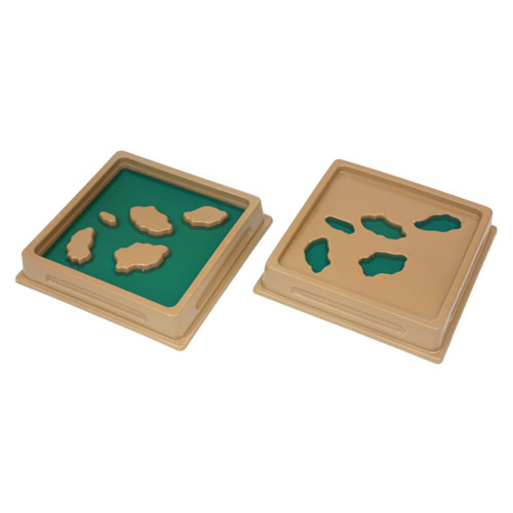 Land & Water Form Trays (set of 10)