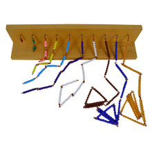 Short Bead Chains with Wall Rack