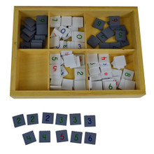 Wooden Number Tiles for Checkerboard