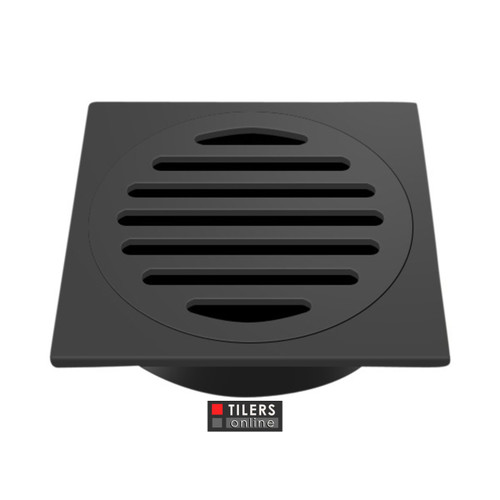BATTrims Floor Waste Square - Matt Black
