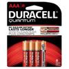QU2400B8Z10 Duracell Battery, Alkaline, Size AAA, 8pk, 10pk/bx, 4 bx/cs (UPC# 66253) Sold as cs
