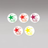 1056R Posey Falling Star Stickers, Red, 1 Roll of 50