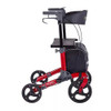 "Comodita Punto Compact Rollator with Double Fold Action and Extra Large 10"" Front Wheels"