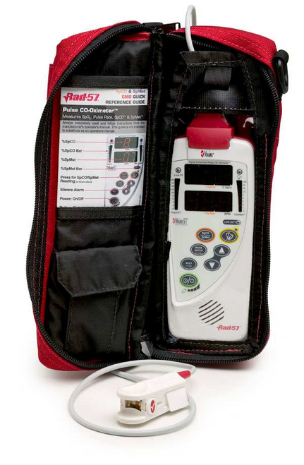 2208 Masimo Water Resistant Handheld Carrying Case for Rad-57, Red