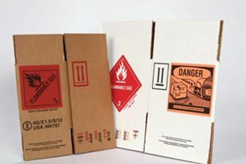 UN-04ACS Gebauer Company UN 4 Packer Shipper Box For Ethyl Chloride Accu-Stream 360 Cans, 10/pk  (0386-0001-11 & 0386-0001-13) Sold as pk