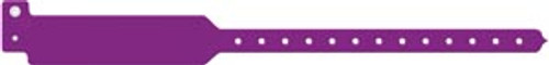 3207C Medical ID Solutions Wristband, Adult, Write-On Tri-Laminate, Custom Printed, Purple, 500/bx Sold as bx