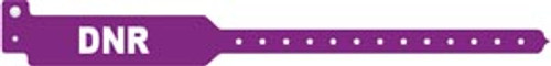 3207DNR Medical ID Solutions Wristband, Adult, Tri-Laminate, DNR, Purple, 500/bx Sold as bx