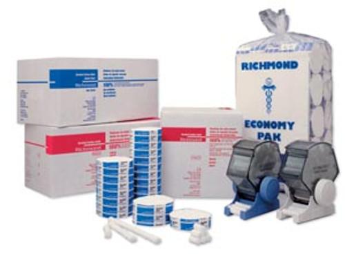 "201213 Richmond Dental Braided Cotton Roll, Small 6"" x 5/16"" Dia, Non-Sterile, 200/bx Sold as bx"