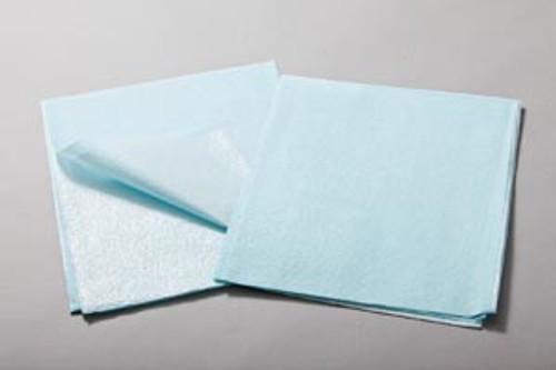 "918213 TIDI Products, LLC Drape Sheet, Tissue/ Poly, 30"" x 48"", Blue, 100/cs Sold as cs"