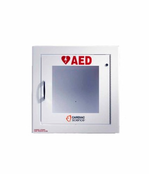50-00395-20 Cardiac Science Semi recessed cabinet with alarm, security enabled