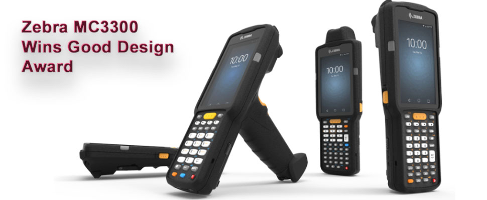 Zebra MC3300 mobile computer wins good design award for design and Innovation