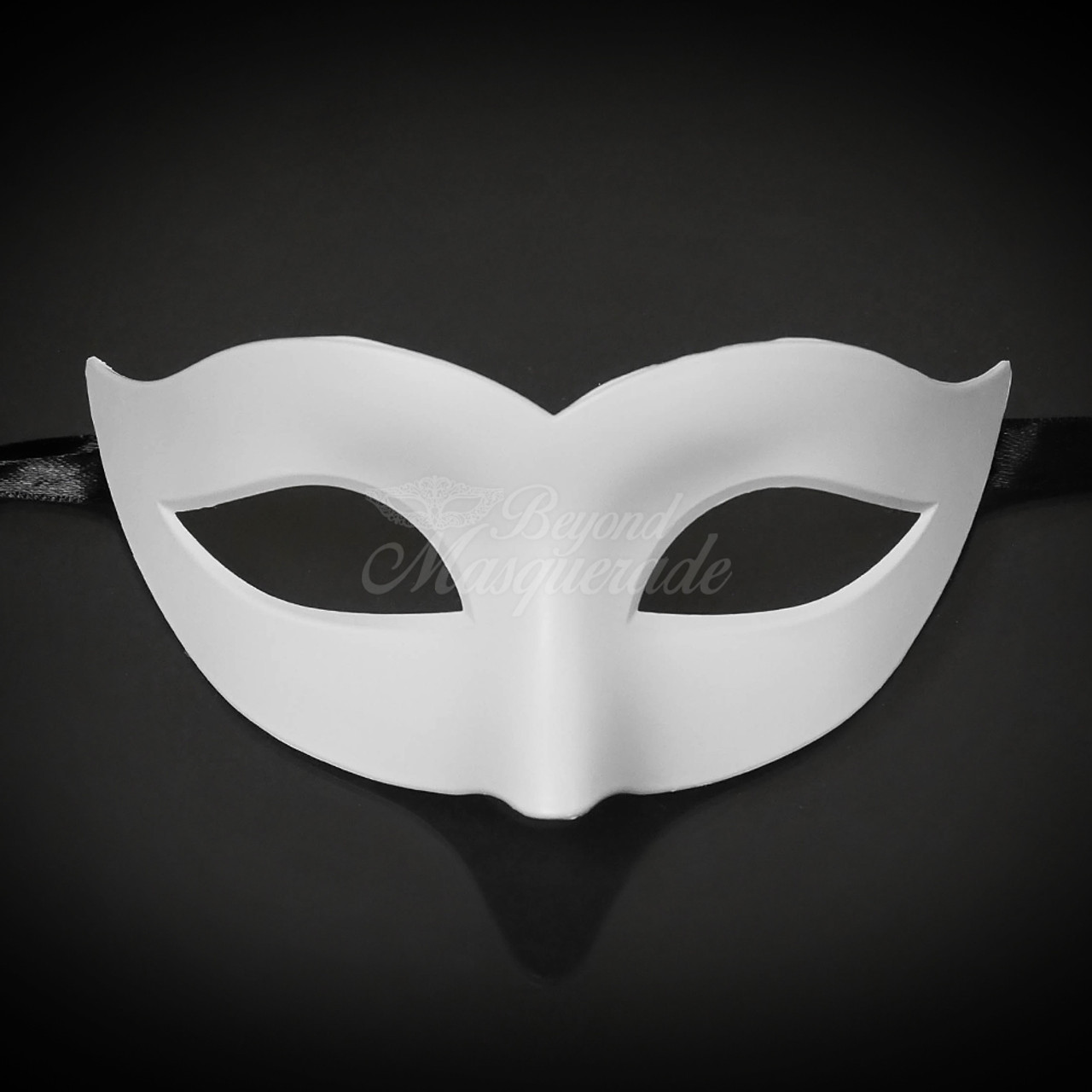 58be885f5eac Blank White Mask Masque Unpainted White Mask DIY Mask DIY Masquerade Mask