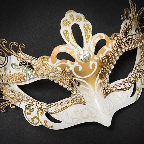 masquerade mask women white gold beyondmasquerade