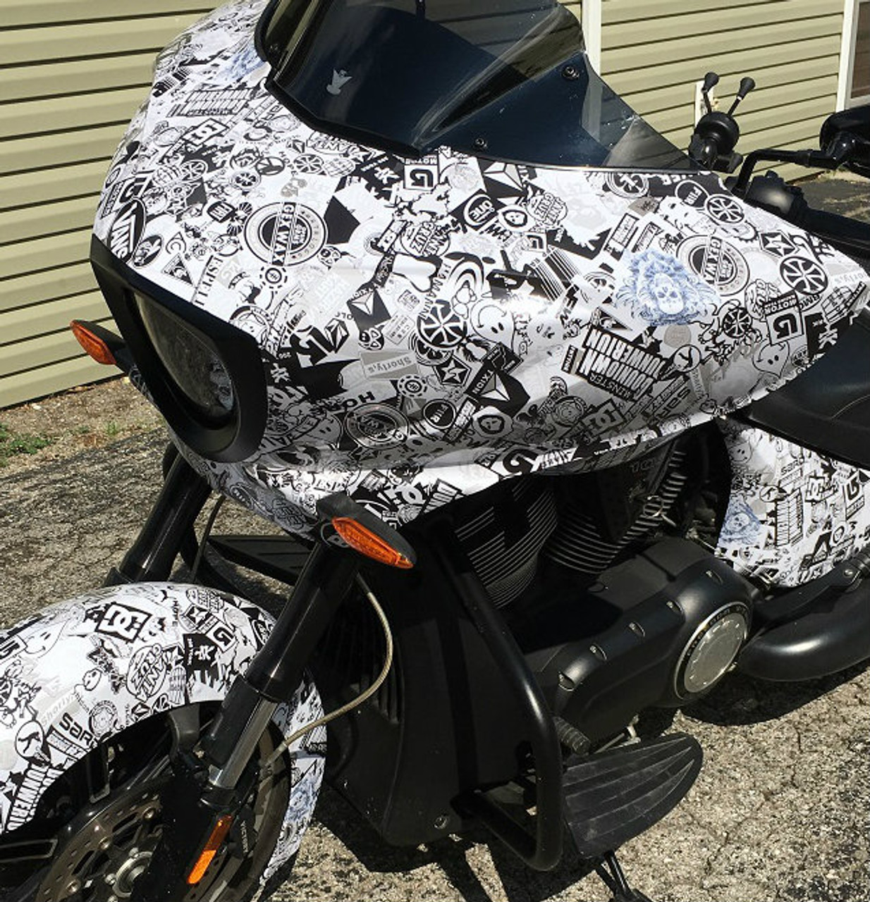 Stickerbomb wrap bike kit vinyl tools