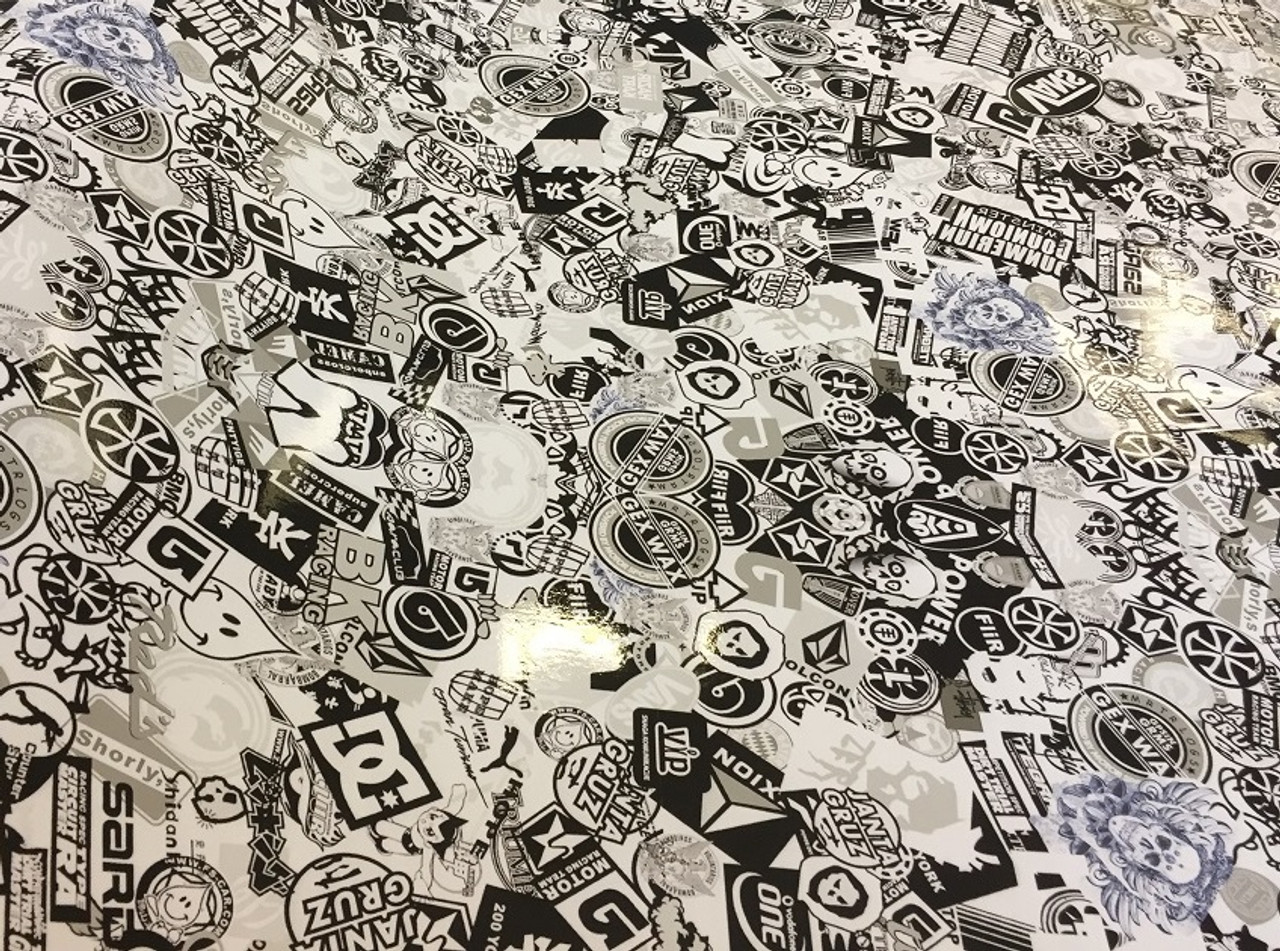 Black White Style Stickerbomb With ADT