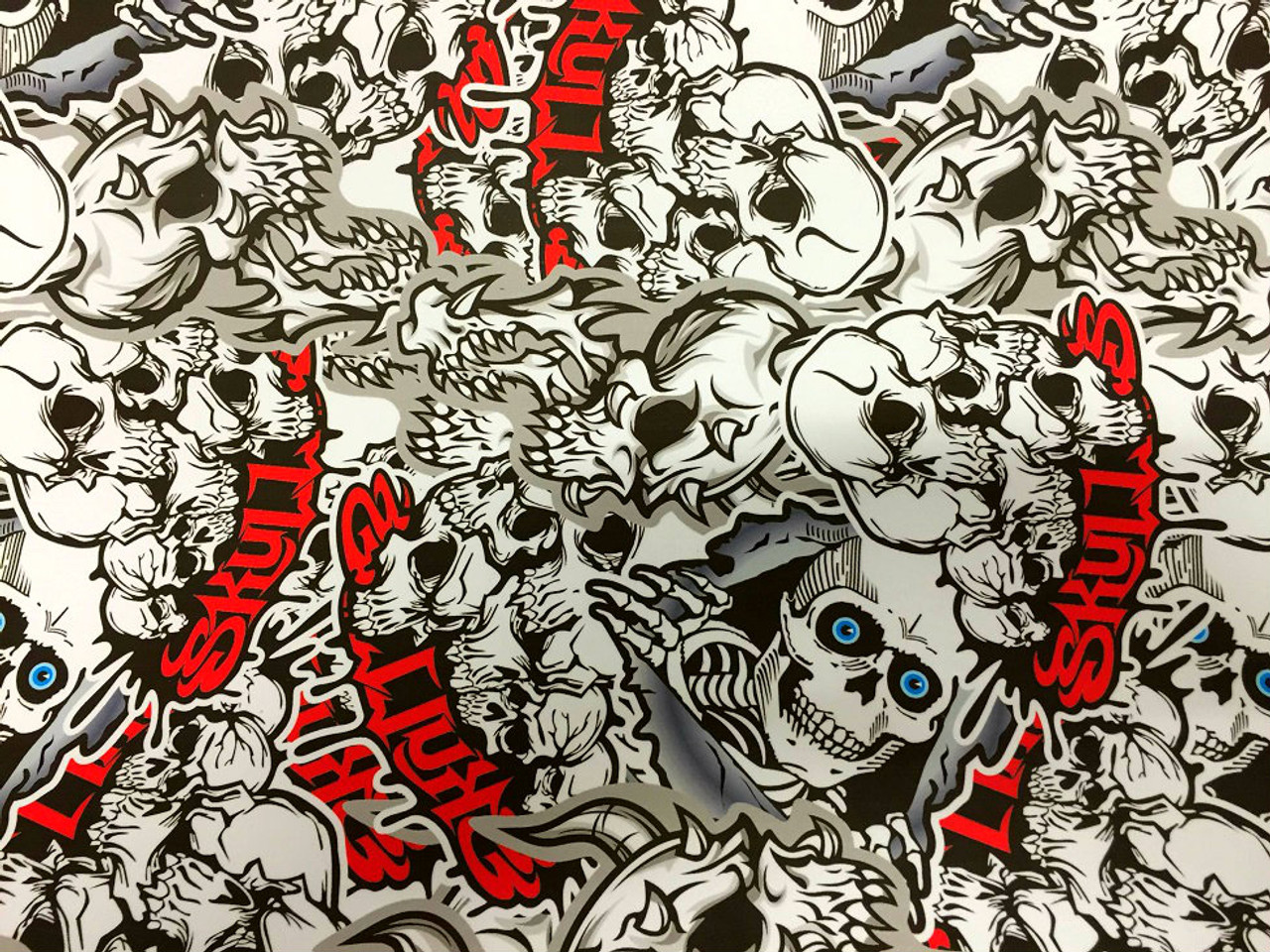 Skulls Style Stickerbomb With Adt Wrap Direct