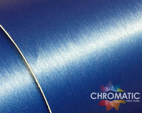 Brushed Deep Metallic Blue Vinyl Wrap with ADT
