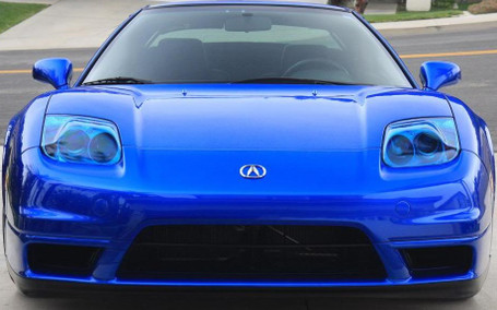 Dark Blue Headlight Tail Light Tint Film Wrap Direct