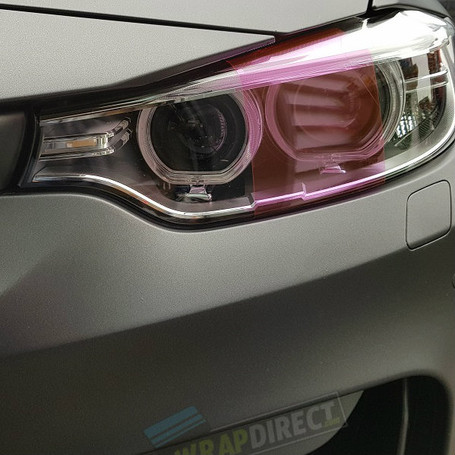 Pink Headlight + Tail Light Tint Film