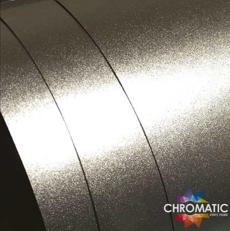 Gloss Metallic Silver Vinyl Wrap with ADT