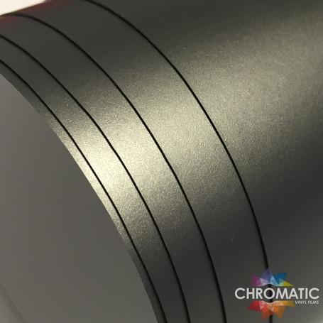 Matte Chrome Grey Vinyl Wrap with ADT