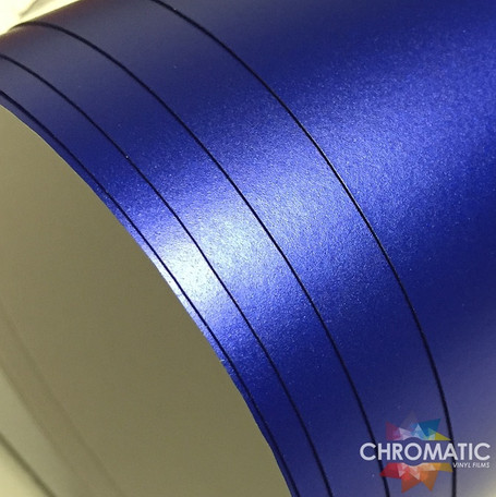 Matte Chrome Blue Vinyl Wrap with ADT