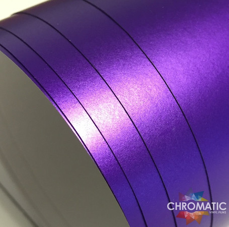 Matte Chrome Purple Vinyl Wrap with ADT