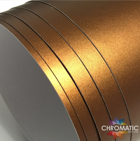 Matte Chrome Copper Brown Vinyl Wrap with ADT