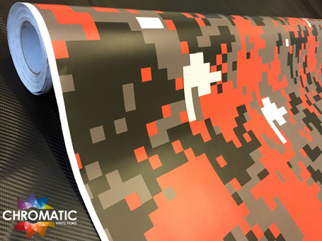 Digital Tiger Camouflage Vinyl Wrap with ADT