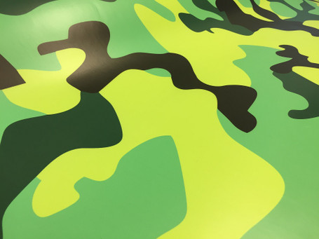 Lime Green Camo Wrapping Vinyl