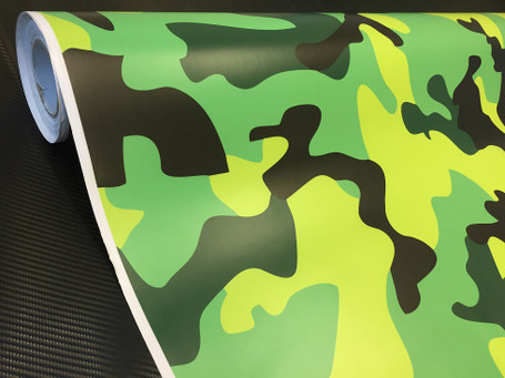 Lime Green Camouflage Vinyl Wrap with ADT