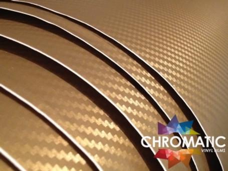 3D Carbon Fibre Gold Vinyl Wrap with ADT
