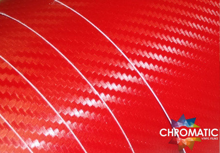 3D Carbon Fibre Red Vinyl Wrap with ADT