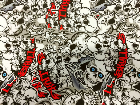 Skulls Style Stickerbomb with ADT