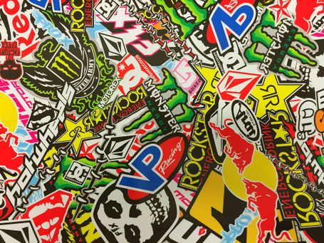 Energy Drink Style Stickerbomb with ADT