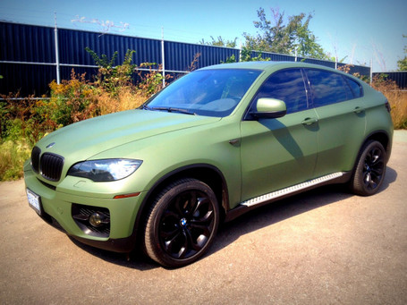 Matte Military Green Vinyl Wrap With Adt Wrap Direct