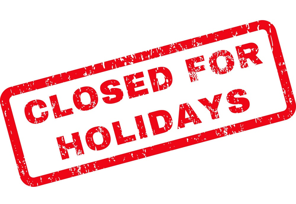 We are Closed for Holidays 17th to 24th of September