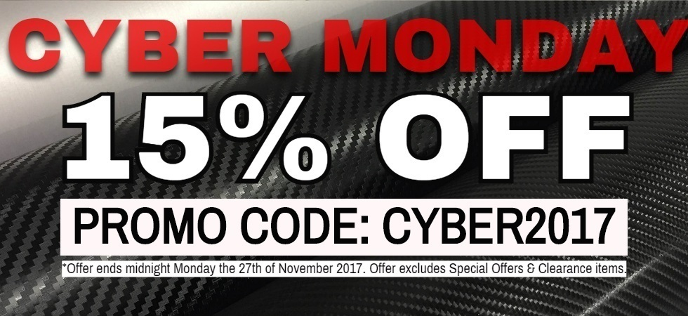 It's CYBER MONDAY!!! 15% OFF today only!