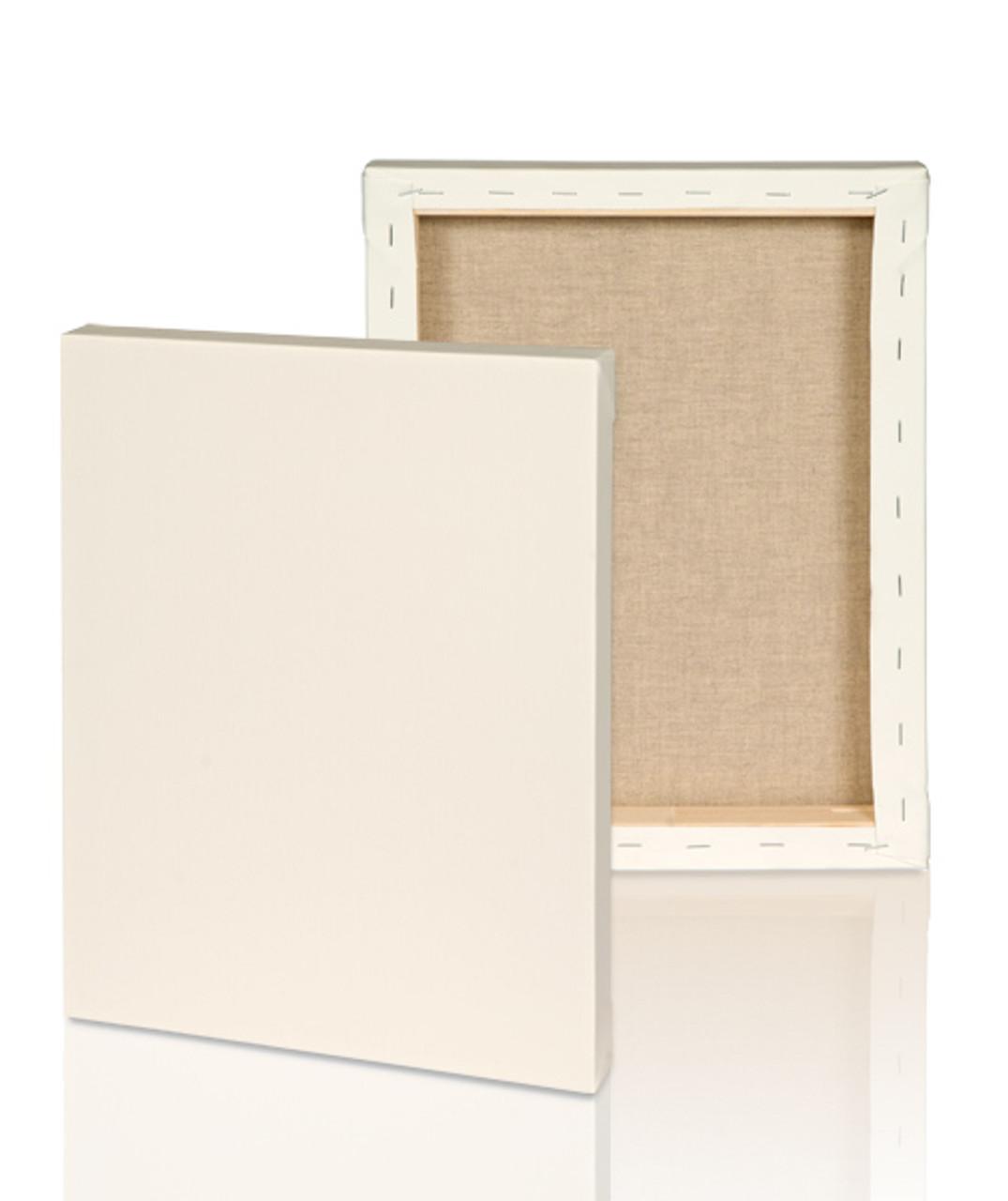 medium grain 3 4 stretched linen canvas 20x30 single piece