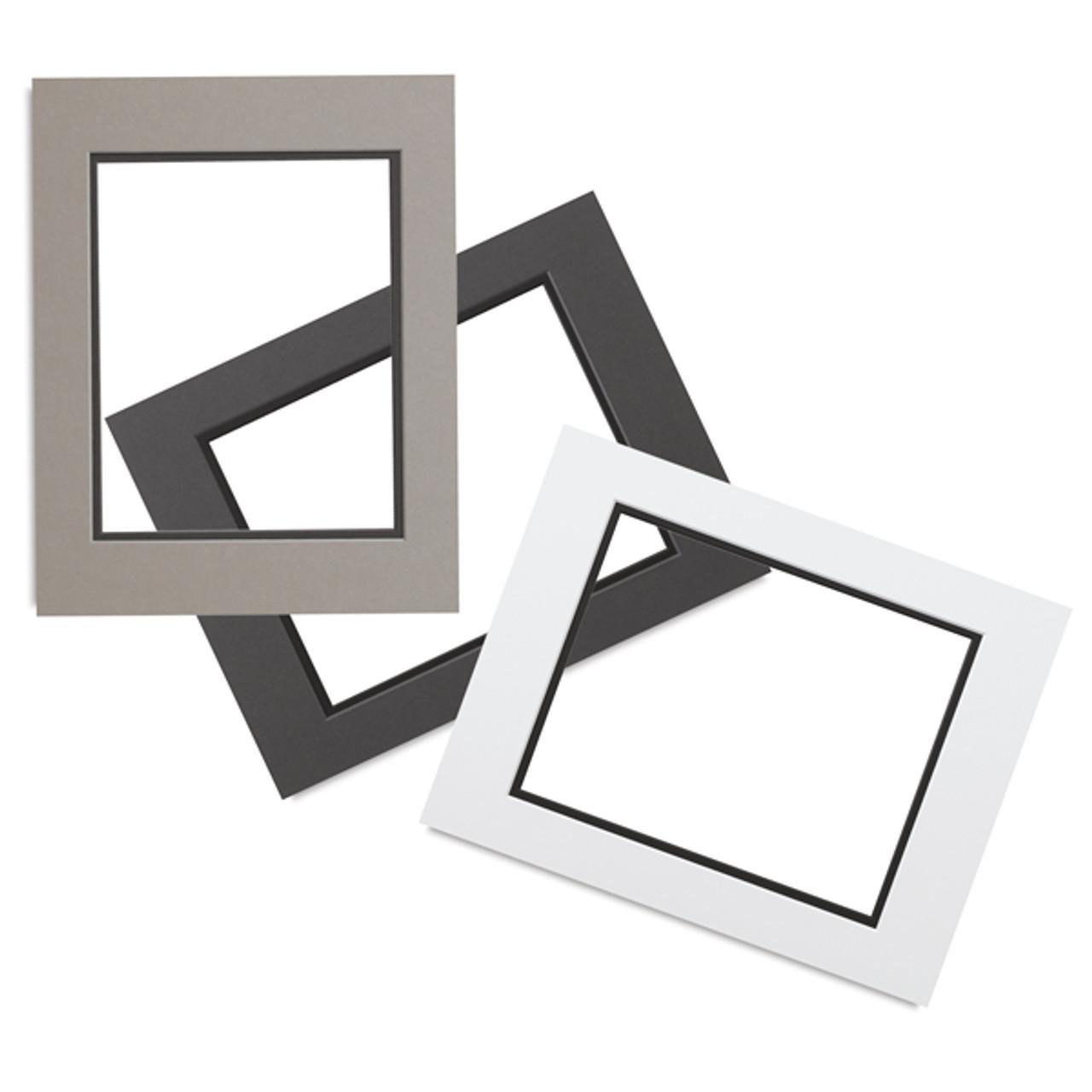 0.060\'\' White Core Double Mats : 16 X 20 For 8.5 X 11 Artwork