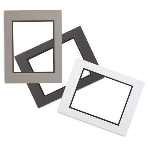 "0.060"" Black Core Double Mats : 18 X 24  For  11 X 17 Artwork"
