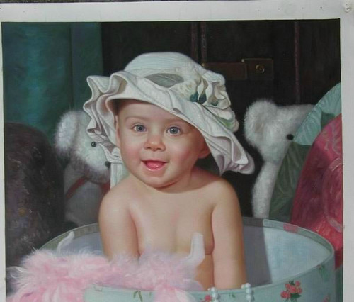 Custom Made Portraits - 3 Persons:48X72