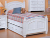 Cape Cod Eggshell White Twin Bed and Trundle