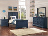 Coordinating blue bedroom suite