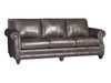 9000 Leather Sofa shown with Nailhead trim, can be ordered without Nailhead