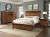 Silo Mansion Bed with foot board storage drawers and bench- shown with Media Dresser