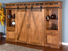 3574RO BARN DOOR ENTERTAINMENT WALL