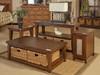 Mossy Oaks Dark Storage Tables with baskets