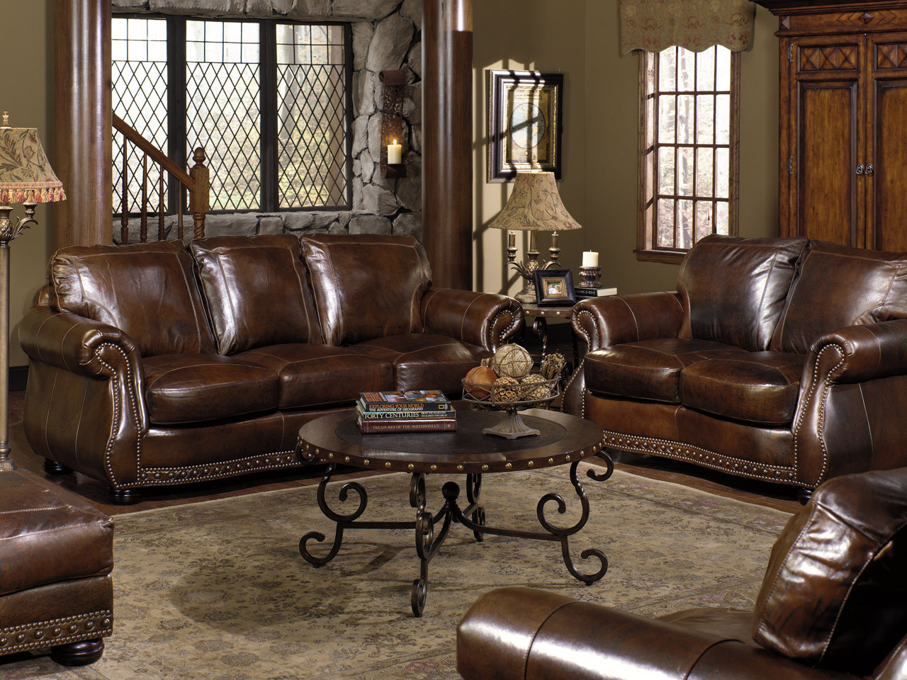 Leather Sofa Love Seat Chair Ottoman Rocking Recliner And