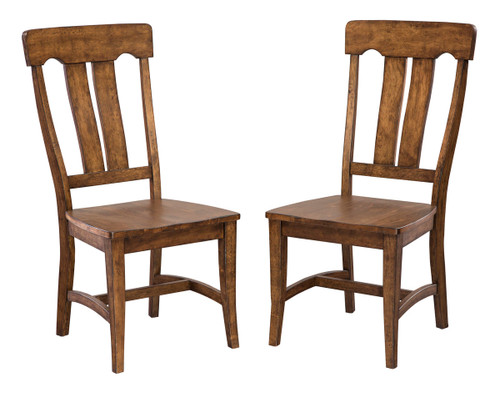 Product Description:   •Industrial style collection featuring cast metal details •Quality birch side chairs with wood seats •Curved back for comfort